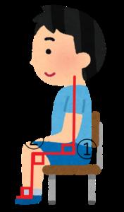 クッションに座る際の姿勢と角度
